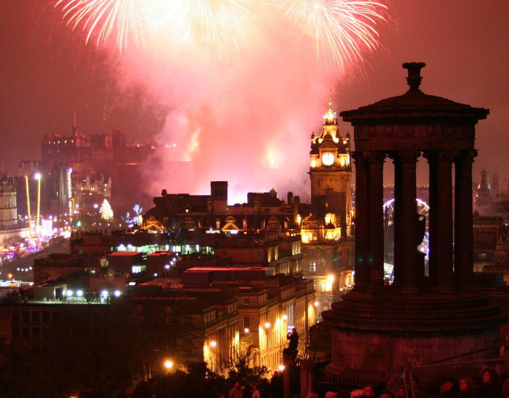 Edinburgh at hogmanay