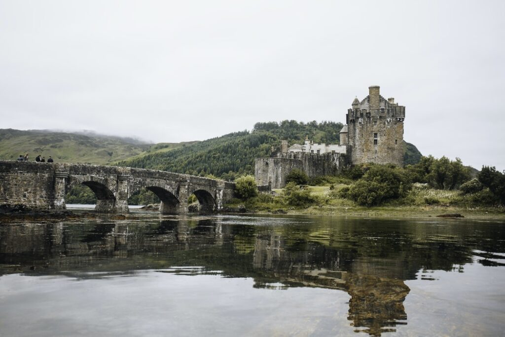 Scottish castle on the banks of a loch